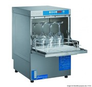 Axwood Underbench Glass Washer With Auto Drain Pump Rinse Aid & Deterg