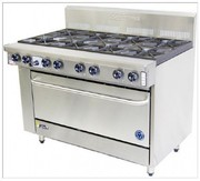 Goldstein Ranges - Gas 8 Burner - High Speed Pure Electric Convection