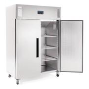 Polar 2 Door Upright Freezer 1200Ltr Stainless Steel