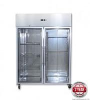 GN1200BTG Grand Ultra Two Glass Doors Upright Freezer 1200L