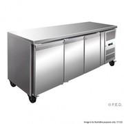 GN3100FER Tropicalised Solid S/S 3 Door Gastronorm Bench Freezer
