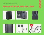 Find Best Speaker Hire in Melbourne